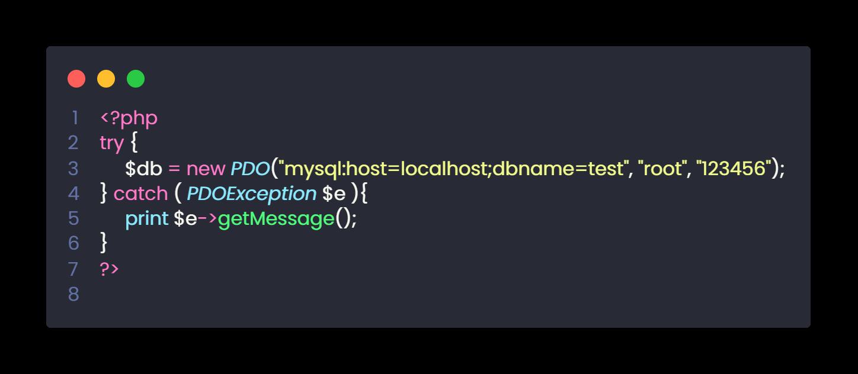 veritabanı bağlantısı kodu