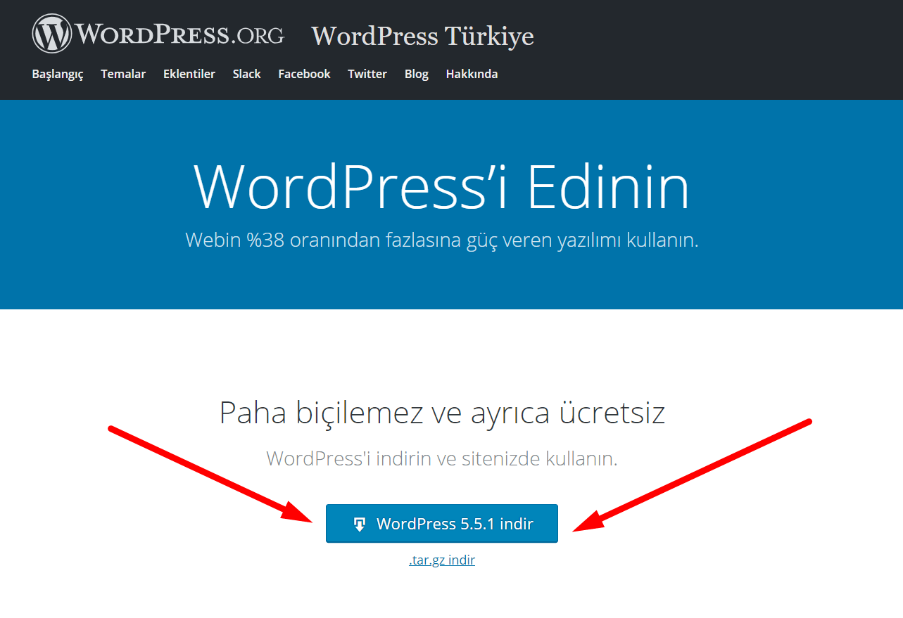 Wordpress indir